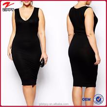 New design spandex fat women clothes, fat women dresses pictures