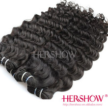 Wholesale support cheap tight deep wave virgin Brazilian hair for African American