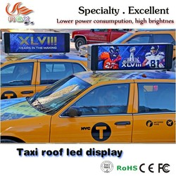 RGX high quality taxi LED top led display taxi roof advertising display with pixel 5mm