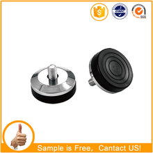 Small Black Furniture Hardware Screw Plastic Glide Chair Feet