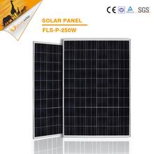 high efficiency 250W polycrytalline silicon pv solar panel, poly solar module