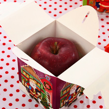 Yiwu caddy Apple Packaging Fold Bag Christmas Eve Gift Paper Box,Simple Folding Box Christmas Apple Box