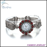 Wholesale & New design women bracelet watch with colorful stone