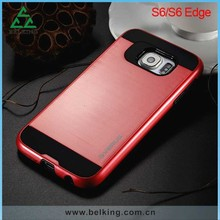 For Samsung S6 Armor Metal Protect Case, Silk Cover Aluminum Case For Samsung S6/ S6 Edge