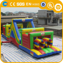 Colourful Inflatable Obstacle Course, inflatable wipeout, inflatable sport game for sale