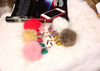 3.5mm Fur Ball Anti Dust Ear Cap Plug For iPhone 4 4S 5 5S 6 6 Plus