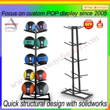 Custom floor standing multi-side ball display stand for sports shop