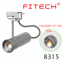 15W cob adjustable beam luminaire led track light for art deco light fixtures