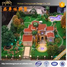 3d rendering villa building model/ miniature for real estate site plan