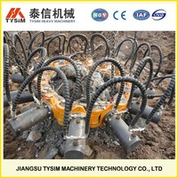 hydraulic pile breaker cutter, KP380A, cutting pile equipment, cutting round concrete, concrete pile head breaker