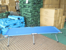 Outdoor camping folding bed, army cot, foldable military bed