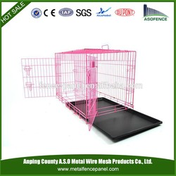 alibaba china manufacture hot sale wire folding pet crate dog cage , cheap dog crate , aluminum dog crate(for Europe market)