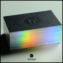Edge Gilding Paper Debossing Business Card/Quality Business Card Printing
