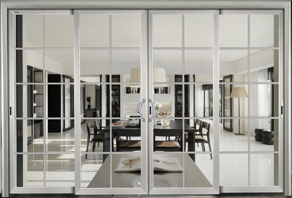 Security residential aluminum glass sliding door double for Residential sliding glass doors