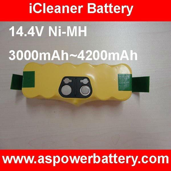 3500mAh 4500mAh paquete vendedor caliente 14.4V Ni-MH para el iRobot Roomba 500 series aspiradora