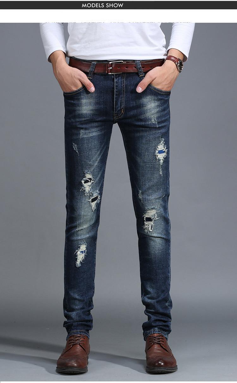 Jeans hombres 2016 en los pantalones vaqueros de los hombres de moda ...