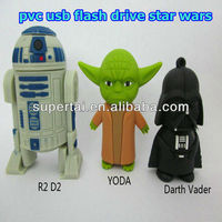 Hot selling 4gb PVC Star Wars Figures Darth Vader Pendrive R2D2 Pen drive