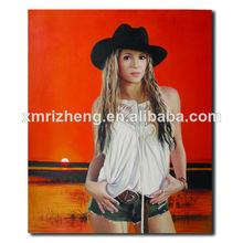 retrato pintura al óleo sobre lienzo de la foto