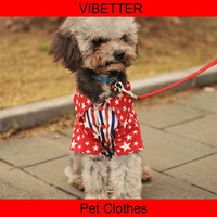 013 Sweet heart blouse Stylish Waterproof Dog Coat in 2colors Wholesale Fur Summer Heated Dog Clothes