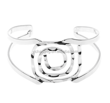 Mexico Handcrafted Silver Overlay Square Spiral Bangle for Women