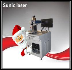 50W fiber laser marking machine 300 x 300mm marking stainless steel