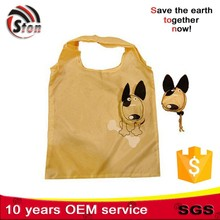 drawstring Recycled foldable polyester nylon animal shaped shopping bag good for promotional and advertising