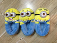 Despicable Me Minion Plush Slippers And Shoes