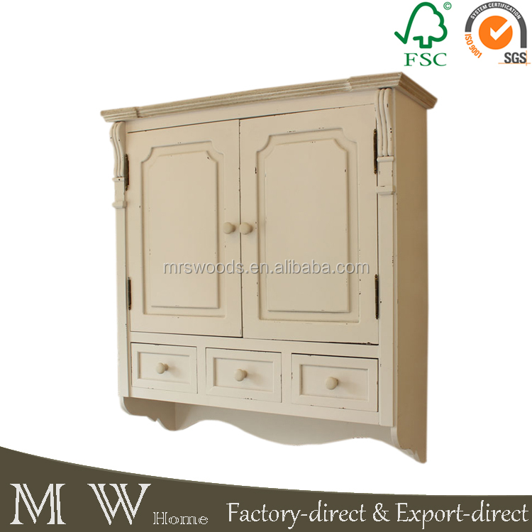 Cream Kitchen Cabinet Wall Mounted Cupboard Shabby Chic