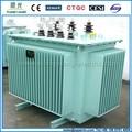 S11 tipo óleo imerso transformador de distribuição 22kv óleo transformadores top caixa de conexão transformador