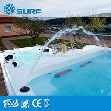 8.1 Meters Unique Design Luxury Swmming Pool Led Light Fiberglass Pool