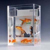 Clear desktop plastic acrylic fish tank wholesale