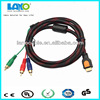 Quality assurance Product hdmi hdtv to vga hd15 y/pb/pr 3 rca adapter cable