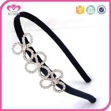Yiwu factory pure white rhinestone girls flower headband