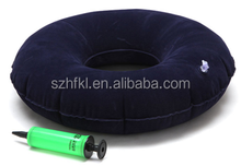 inflatable donut seat cushion for hemorrhoids with 1 color logo printed for promotional gifts