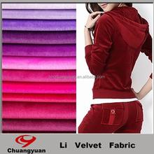 Haining Fashion Winter Colorful Design Knitting Velvet Wear Girl Dresses Fabric For Garment Wholesales
