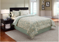 heat transfer printed 3pcs bed duvet cover set, adult and kids, best selling and top quality