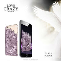 3D Angel Wings Plating Hard Back Case for iPhone 6
