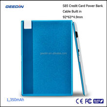 AA universal battery charger universal external battery mobile power bank by geedin S85