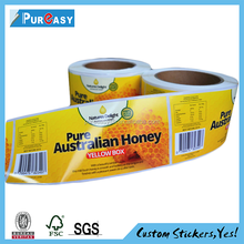 Terrific printed matte finished honey label from label manufacturer