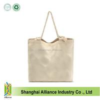 Promotional Blank Natural Cotton Tote Shopping Bags/Canvas Cotton Shopper/Cheap Cotton Bag