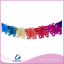 Kids craftwork hanging colorful paper garland (factory direct sale )