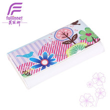 Hot Lady New Popular Flower Printed Long Wallet/Cheap Tourist Souvenir PU leather Printed lady wallet