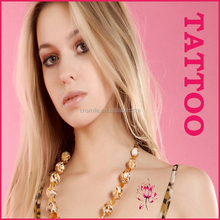 Fashion jewelry wholesales custom waterproof metallic tattoos temporary tattoo water transfer paper