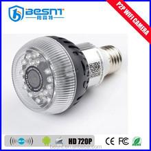 2015 new technology wifi light bulb camera HD 72op p2p hidden camera light bulb BS-W12A