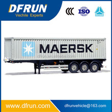 Light weight 3 axle semi trailer loaded container