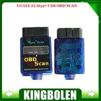 2014 High Quality Vgate ELM327 USB OBDII Scan USB Diagnostic Scanner Work With OBD2 Vehicle Vgate ELM 327 USB Scan