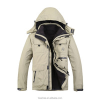Top Quality Winter Thermal Seam Coating Breathable Hooded Fishing HIking Jacket 88019
