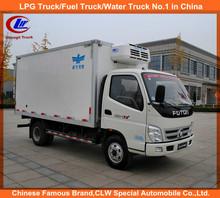 Foton Mini Refrigerated Van truck freezer 4*2 Foton Refrigerator truck frigo 4*2 Foton 3-5ton truck freezer