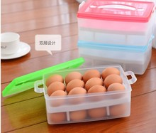Wholesale Pastic Egg Storage Boxes With lid Double Eggs Preservation Box