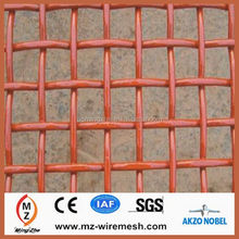 durable and discount !!! hot dipped or electro galvanized crimped wire mesh netting / decoration PVC coated crimped wire mesh
